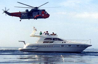 yacht and helicopter